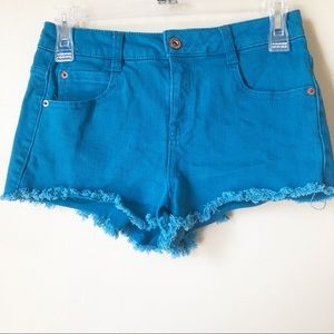 Forever 21 | Turquoise Denim Shorts